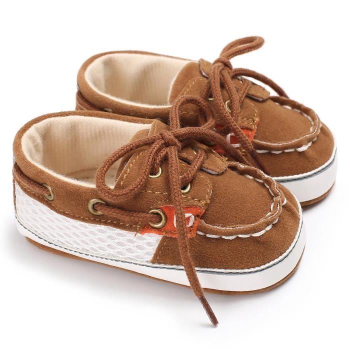 Marron-2018 Nouveau Printemps et automne Chaussures de bébé Tendance Loisirs Fond mou Bébé Chaussures de toile