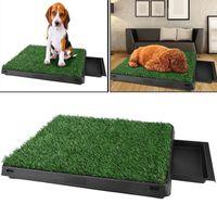 Homdox Tapis propreté alèse pr animaux Pet parc chien pot d'intérieur Grass Mat formation Pad pot pour animaux de compagnie