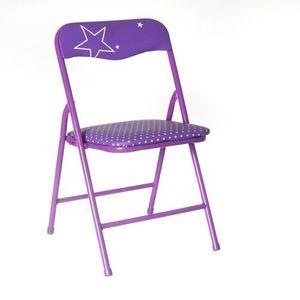 CHAISE Chaise pliante Enfant - Métal - Violet