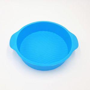 MOULE  Bleu 160G Moule à gâteau en silicone de forme rond