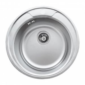 Evier rond inox achat vente evier rond inox pas cher for Evier cuisine inox brosse
