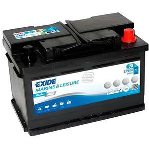 BATTERIE VÉHICULE Batterie plomb AGM EXIDE Dual AGM EP600 (600Wh) 12