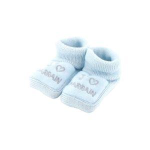 CHAUSSON - PANTOUFLE Chaussons pour bébé 0 à 3 Mois bleu - J'aime parra