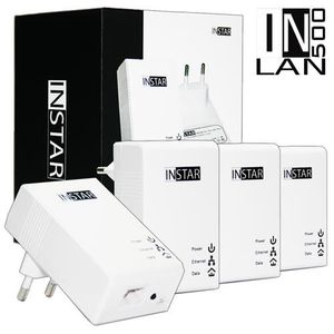 COURANT PORTEUR - CPL INSTAR 4 Adaptateurs CPL IN-LAN 500 500Mbps Blanc
