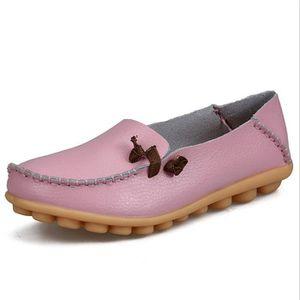 Moccasins femmes De Marque De Luxe Qualité Chaussure cuir Antidérapant femme Moccasin Confortable Respirant Plus Taille 44 SPi2g