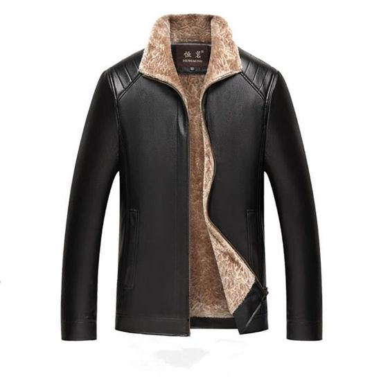 Blouse Blouson Y0xbtwz Éclair Homme Manteaux Vestes Hiver Chauffant Top Casual Noir Cuir Fermeture Xs Chaud Mode wpntXUqaw