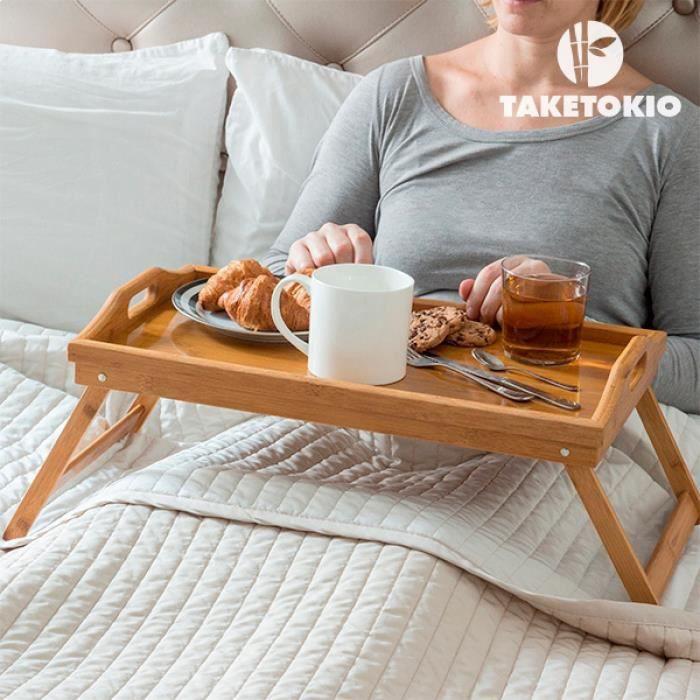 plateau repas avec pieds pliants petits d jeuners au lit. Black Bedroom Furniture Sets. Home Design Ideas