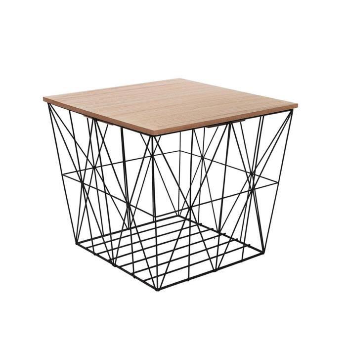 premier taux 7db59 66313 Table filaire carrée noir Autres Multicolore