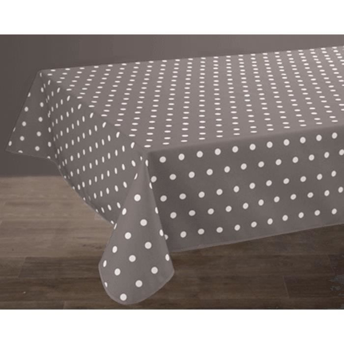 Nappe anti-taches Ovale 150x240 cm - Pois taupe - Achat / Vente ...