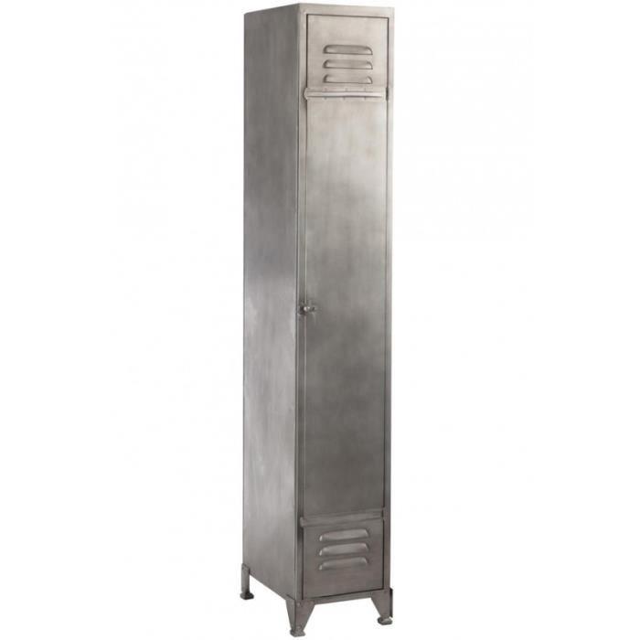 Armoire Industrielle Metallique Etroite 3 Etages Metal Gris Clair