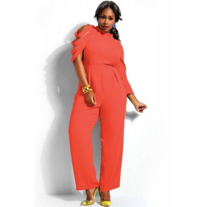 combinaison femme ronde asym trique d coupe orange orange. Black Bedroom Furniture Sets. Home Design Ideas
