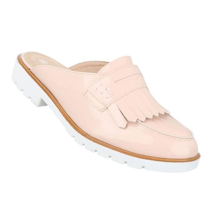 Femme sandales chaussures chaussures de plage chaussures d'été Pantoletten Slipper vieux rose 41