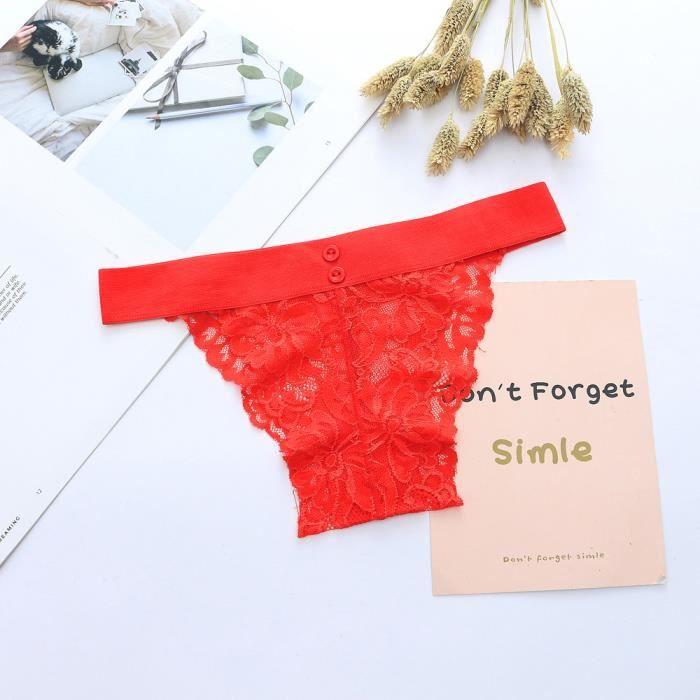Femmes Lingerie Culottes Free Les rouge splice Arc Sexy vêtements Thongs en Briefs Bouton Sous Zngqfd8