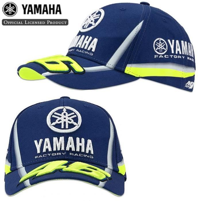 Valentino Rossi ® Casquette VR46 Moto GP M1 Yamaha Factory Racing Team  YDMCA313609 Officiel 2018 - Licence Yamaha - Distributeur - 26205c20a4e