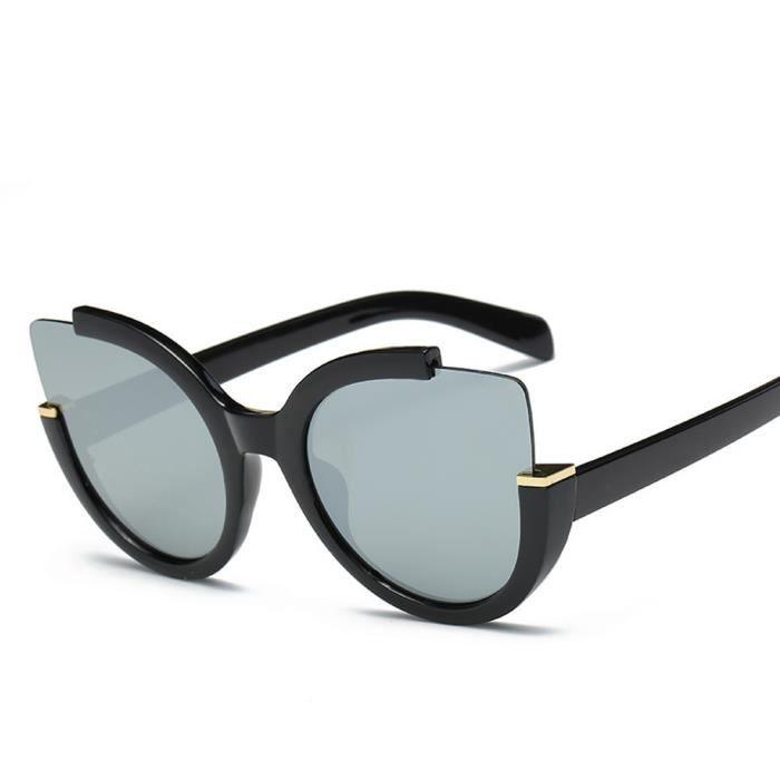 de unisexe hommes lunettes de rétro miroir Aviator Vintage lunettes mode Femmes B soleil lentille NOIR IwqYzdB