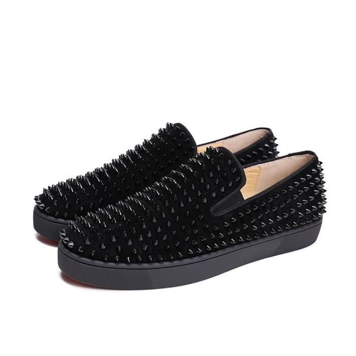 UE 38-46 Hommes Red Bottom Shoes Mode Dandelion Spikes Mocassins Casual Chaussures Rivets Flats