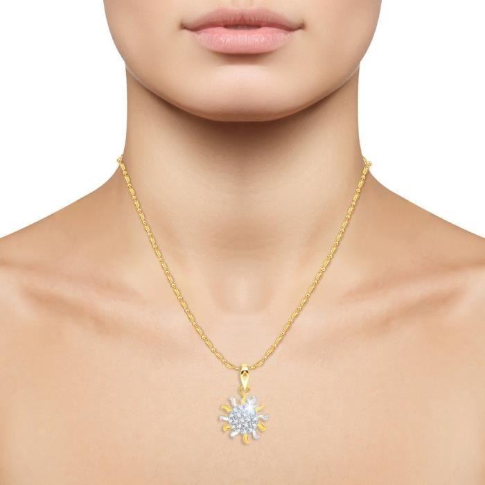 Femmes Vk Bijoux Antique Sun Or et Rhodium Pendentif plaqué - P1336g [vkp1336g] UE8YQ