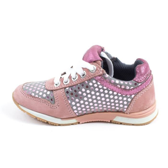 Chaussures fille Sneakers bas MOD8 FLINT rose clair