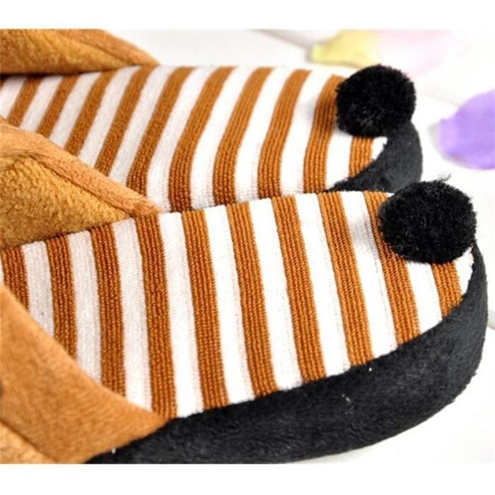 Pantoufles Cartoon Animaux Hiver Chaud Peluche Panda slippers BBDG-XZ037Rose41
