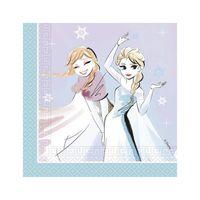 SERVIETTE JETABLE 20 Serviettes en papier La Reine des Neiges 33 cm