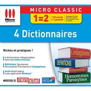 JEU PC 4 DICTIONNAIRES / LOGICIEL PC CD-ROM