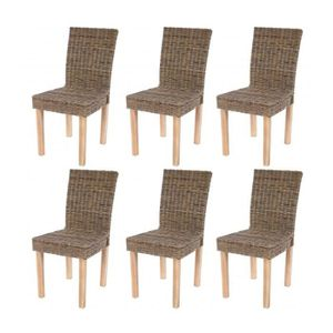 Chaises de salle a manger tresser achat vente chaises - Chaise de salle a manger en rotin ...