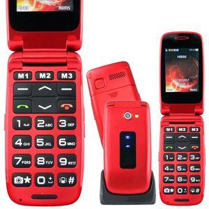 Téléphone portable CLAP FACILE 4 RUMBA Rouge: Beau design - son assez