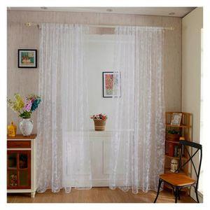 VOILAGE Pinji Rideau Voilage  Décoration Fenêtre Chambre 2