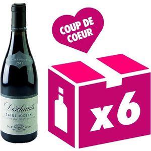 VIN ROUGE Saint Joseph Deschants vin rouge 6x75cl Chapoutier