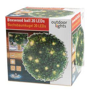 DÉCORATION LUMINEUSE Boule de buis - 20 LED - 26,5cm