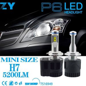 PHARES - OPTIQUES 1 Paire Phares 55 W 5200LM 6000 K Auto Voiture LED