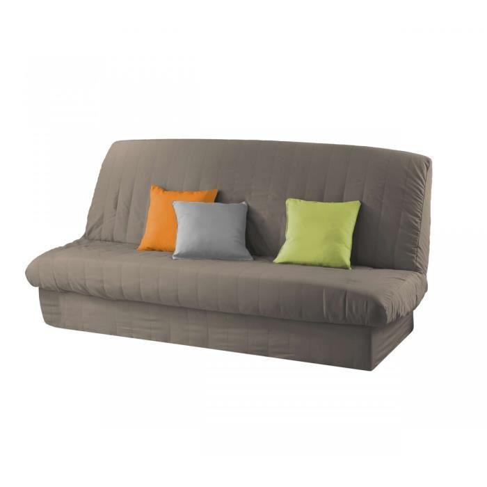 Matière : 100% polyester - Dimensions : 120 à 140 cm - 185 à 200 cm - Coloris : taupeHOUSSE DE CANAPE