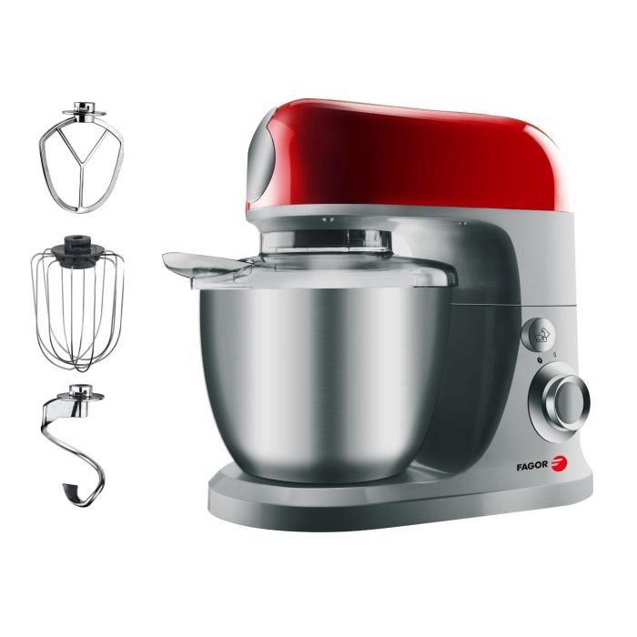 FAGOR FG999 - Robot pâtissier - 700 W - 4,3 L - Rouge et inox