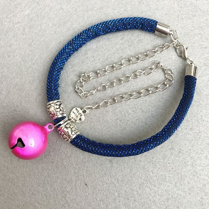 Blue Chien Chat Collier De Cloche Vent National Pour Animaux Compagnie