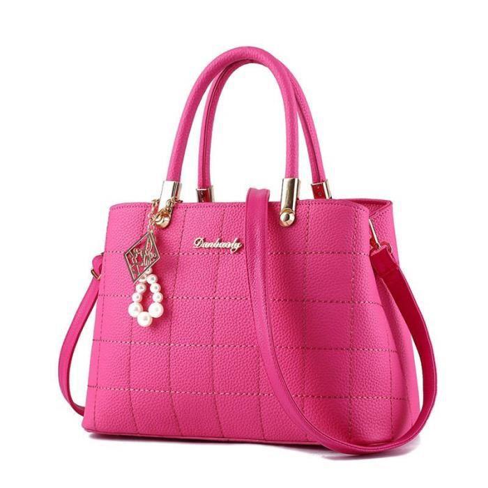 sac de luxe Nouvelle mode sac à main femme de marque luxe cuir meilleure qualité rouge Sacs À Main Femmes Célèbres Marques