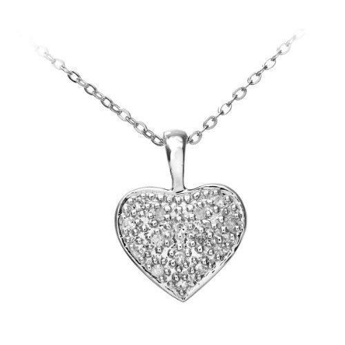 Colliers - Femme - Coeur - Or Blanc 375/1000 9 …