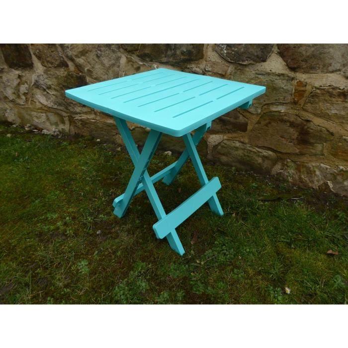 Table de jardin en plastique en résine bleue UK-Gardens - Achat ...