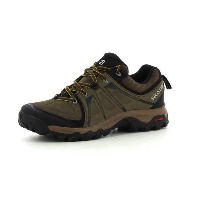 Homme Pas Cher Salomon Discovery GTX Marron Chaussures de sport