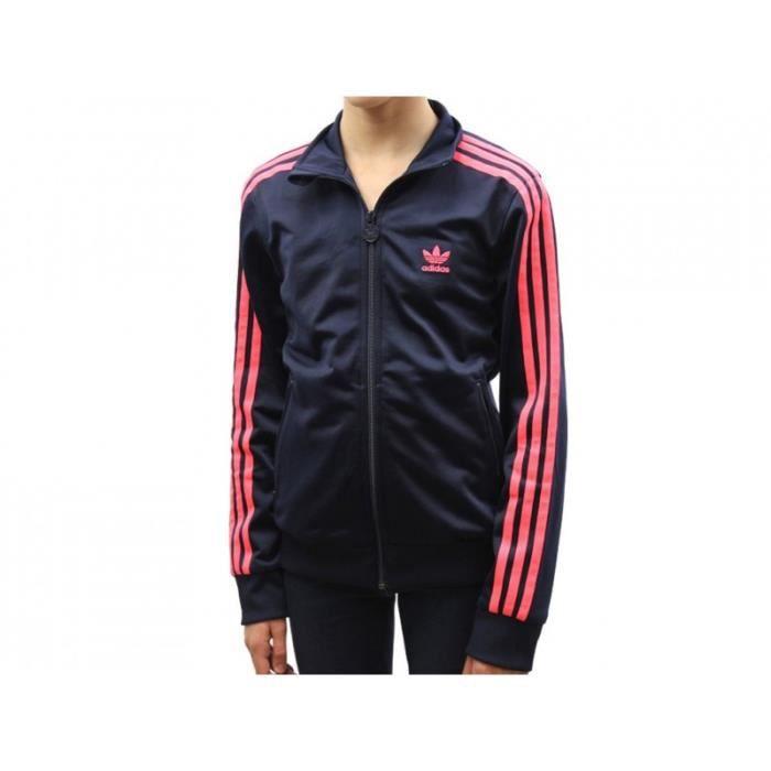 J FIREBIRD TT G - Veste Fille Adidas Rose Rose - Achat   Vente veste ... c337b262af8