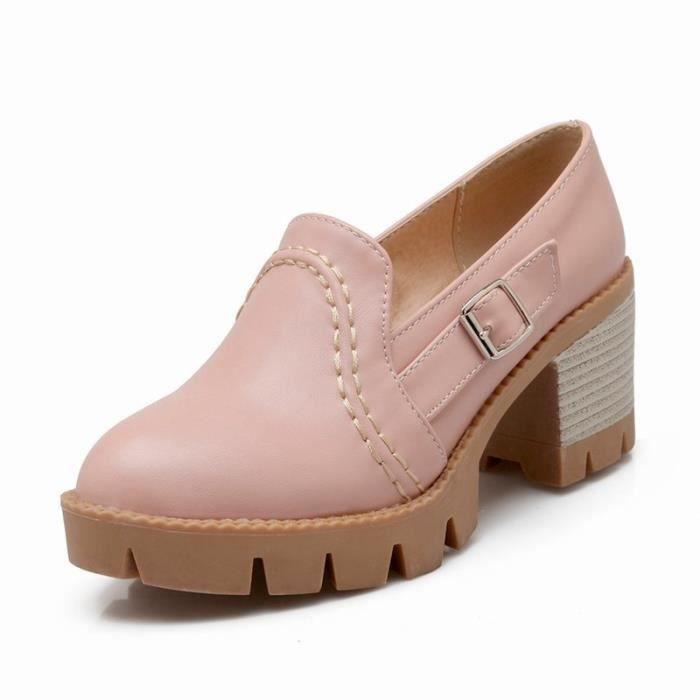 Chaussures Femme Plateforme Pointue En PU Cuir Toutes les pointures de la 35 à la 43