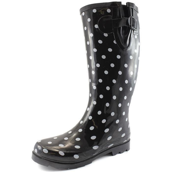 Et les flaques d'eau de pluie neige Boot Multi Color Mi-mollet Cuissardes Bottes de pluie imperméables UT1UY Taille-40
