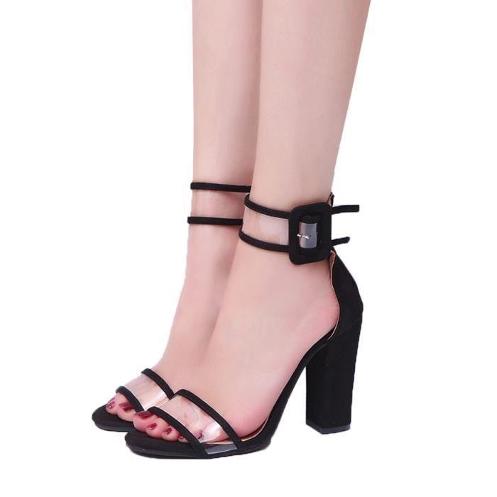 Plates Haut Sandales Dames Bloquer Cheville Chaussures Femmes Talon 0Xk8wPOn