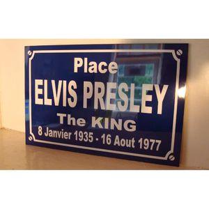 ... PLAQUE DE PORTE plaque elvis presley objet collector pour fan ... e08c5f213bb
