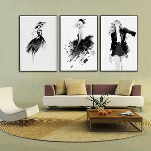 cadre noir et blanc achat vente pas cher. Black Bedroom Furniture Sets. Home Design Ideas
