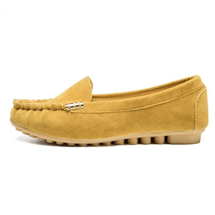 Boat Femme Xmm71214532ye Jaune Casual Comfy Slip on Chaussures Flats x4YCwq11p