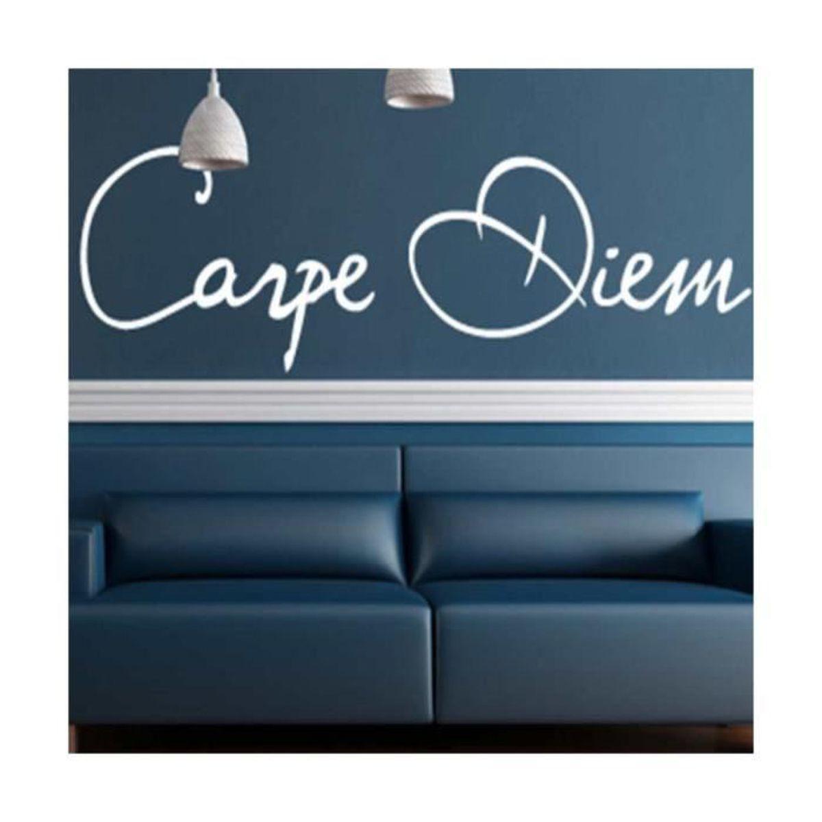 Mural Dicton-Carpe Diem profite du jour Sticker Murale Autocollant