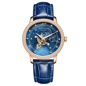MONTRE Reef Tiger Luxe Montres Automatique Femmes Or Rose