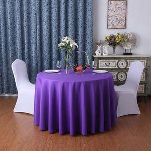 NAPPE DE TABLE Nappe unie ronde - 320 cm - Violet foncé 60419e213ff