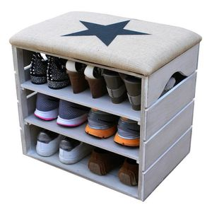 meuble chaussures liza line meuble chaussures blanc vieilli banc