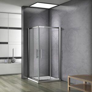 porte et paroi douche 80x80 achat vente pas cher